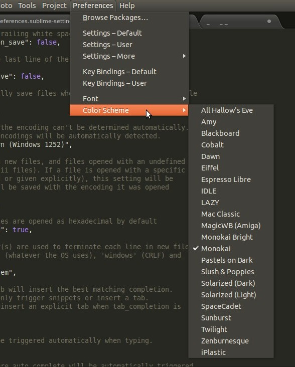 sublime text color schemes